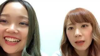 つぼみ恵梨華SHOWROOM 配信中に杉山優華、糸原沙也加参加!