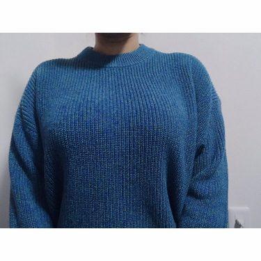 今日は青です。このセーターお気に入り🌛今日も1日お疲れ様です#裏垢女子 #裏垢男子 #おっぱい #巨乳#1mmでもいいなと思ったらいいね#むちむち #ぽっちゃり