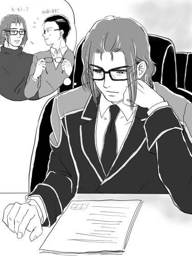 りんどうさんに老眼鏡かけさせたい案件。たねこさんとカブってしまいました💦(自分が老眼になったので、誰か道連れにしたいマン)眼鏡美人の恋人が、似合うフレームを選んでくれました❤️