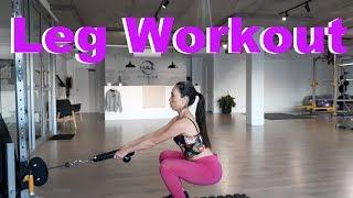 【Fitness】Vlog ジムで出来る美尻&美脚トレーニング