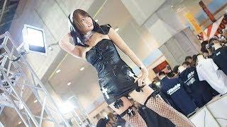 大阪オートメッセ2019 セクシーなシスター衣装が似合う美人コンパニオンさん2