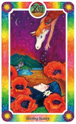 【大アルカナ13・眠れる森の美女】眠りと内なる変化……長い期間をかけてじっくり考える必要があるかもしれません。内側に生じている静かな成長を恐れないでください。大胆さと感情の静けさをともない、夢、原型、シンボルの世界に入りましょう。