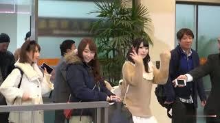 白石茉莉奈,小島みなみ,天使もえ,湊莉久,上原亜衣 が東京に着く