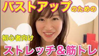 【バストアップ】初心者向けストレッチ&筋トレ【宅トレ】