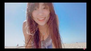 天使ようなおっぱいが巨乳の女の子がビーチではしゃぐよCalifornia