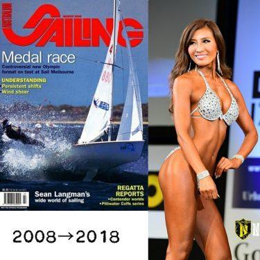 流行りの #10yearschallenge ✨セーリング⛵の選手だった10年前。北京五輪迄。一年中レースで世界中回ってました。(オーストラリアで雑誌の表紙を飾った時の一枚)10年経った今はビキニの選手👙いつの時代も…