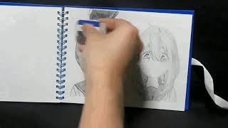 鉛筆画 重ね絵 ゆるキャン△ 福原遥 大原優乃