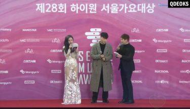 司会のお姉さんのスケスケが気になって仕方ない🤦♀️♡#BTS @BTS_twt #ソカデ#ソウルミュージックアワード#SMA #SeoulMusicAwards